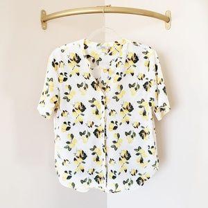 Dalia Lemon Short Sleeve Blouse M